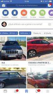 Publicar coches facebook